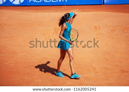 Moscow, Russia — July 29, 2018: Olga Danilovic is a serbian professional tennis player on the wta Moscow River Cup. #1162005241