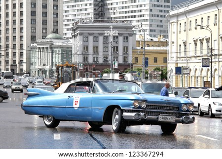 MOSCOW, RUSSIA - JUNE 3: American motor car Cadillac Eldorado competes at the annual L.U.C. Chopard Classic Weekend Rally on June 3, 2012 in Moscow, Russia.