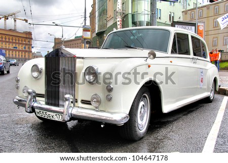 MOSCOW, RUSSIA - JUNE 3: English motor car Rolls-Royce Phantom competes at the annual L.U.C. Chopard Classic Weekend Rally on June 3, 2012 in Moscow, Russia.