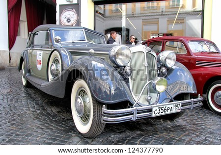 MOSCOW, RUSSIA - JUNE 3: German motor car Horch 853 competes at the annual L.U.C. Chopard Classic Weekend Rally on June 3, 2012 in Moscow, Russia.