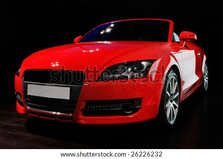 "MOSCOW, RUSSIA - MAY 29: Red Audi TT at exhibition of exclusive cars ""Excars 2008"", Moscow, Russia, 29 May 2008"