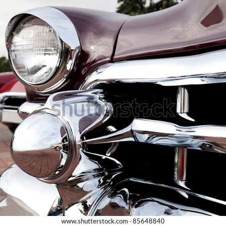 "MOSCOW, RUSSIA - SEPT 24: A 1953 Cadillac Eldorado in the final stage of the competition for classic cars at the ""Closing  of the season Rally Retro Car"" on September 24, 2011 in Moscow, Russia"