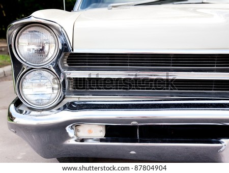 MOSCOW, RUSSIA - SEPT 24: A 1962 Pontiac Bonneville in the final stage of the competition for classic cars at the \