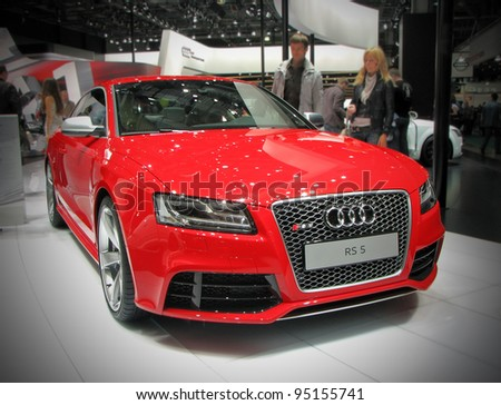 MOSCOW, RUSSIA - SEPTEMBER 1: Audi RS5 presented at the Moscow International Autosalon on September 1, 2010 in Moscow, Russia.