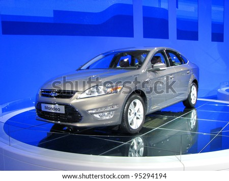 MOSCOW, RUSSIA - SEPTEMBER 1: Ford Mondeo presented at the Moscow International Autosalon on September 1, 2010 in Moscow, Russia.
