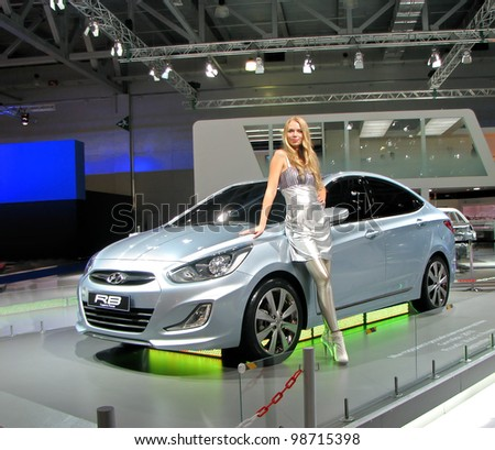 MOSCOW, RUSSIA - SEPTEMBER 1: Hyundai RB Concept on display at the Moscow International Autosalon on September 1, 2010 in Moscow, Russia.