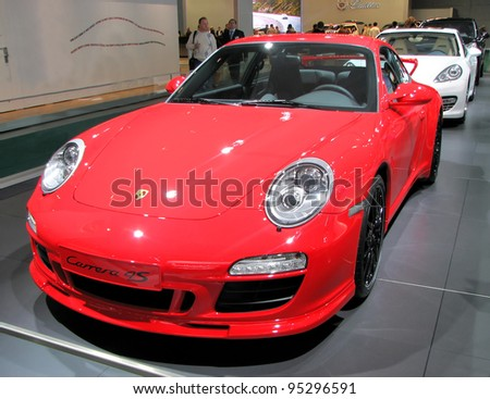 MOSCOW, RUSSIA - SEPTEMBER 1: Porsche Carrera 4S presented at the Moscow International Autosalon on September 1, 2010 in Moscow, Russia.