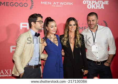 MOSCOW, RUSSIA, September, 13: Sasha Grey with friends. Premiere of the movie \