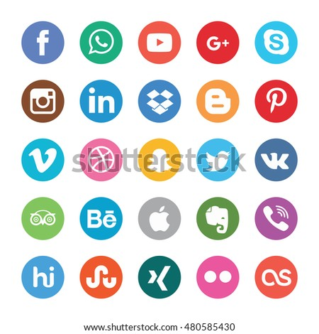 MOSCOW, RUSSIA - September 09, 2016: : Set of most popular social media icons: Twitter, Pinterest, Instagram, Facebook, Blogger, WhatsApp,Viber, Vimeo, Linkedin and others printed on paper.