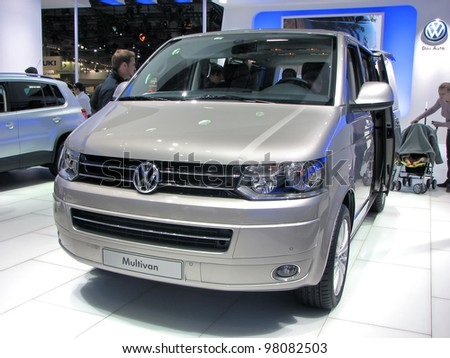 MOSCOW, RUSSIA - SEPTEMBER 1: Volkswagen Multivan on display at the Moscow International Autosalon on September 1, 2010 in Moscow, Russia.
