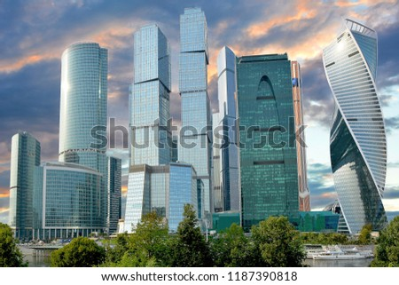 Moscow. Skyscrapers Of The Business Center #1187390818