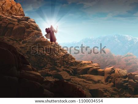 MOSES' TEN COMMANDMENTS  Stock fotó ©