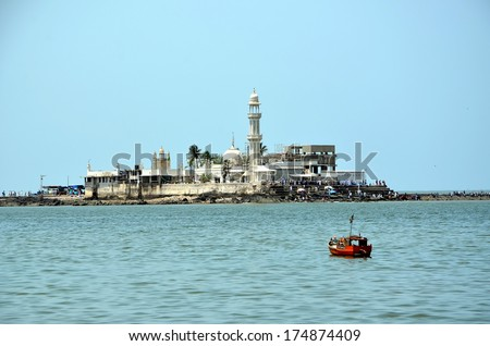 Mosque Haji Ali in Mumbai Mosque was built in 1431 in memory of a rich Muslim merchant