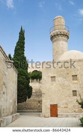 mosque in baku old town azerbaijan