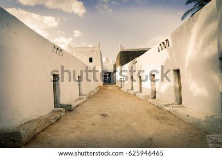 Mosque in Ghadames, ancient berber city, Libya, UNESCO wold heritage usite