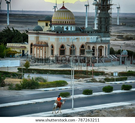 Mosque in Hurghada, Egypt, 2017 #787263211