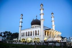 Mosque Kaizerstraat in Paramaribo, capital of Suriname.