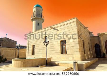 Mosque of Heydar cuma mascidi. Built in 1893. The Republic of Azerbaijan