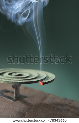 Mosquito coil is mosquito-repelling incense, usually shaped into a spiral, and typically made from a dried paste of pyrethrum  powder.