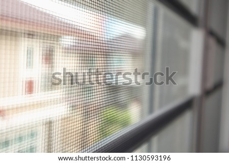 mosquito net wire screen on house window protection against insect #1130593196