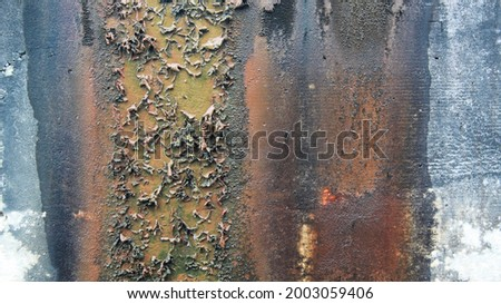mossy and yellow walls caused by seeping water Stok fotoğraf ©