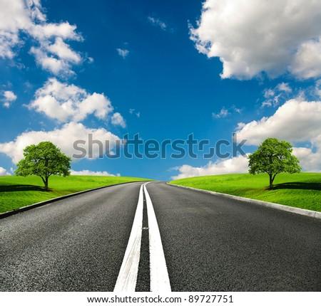 Most Asphalt road - stock photo