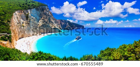 Most beautiful beaches of Greece series - Porto Katsiki in Lefkada. Ionian islands