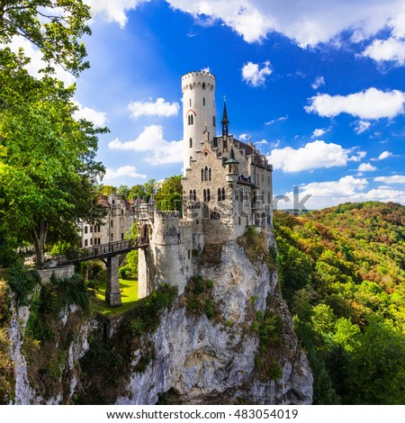Most beautiful castles of Europe - Lichtenstein . Germany