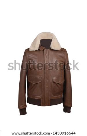 most beautiful medium brown leather jacket photo #1430916644