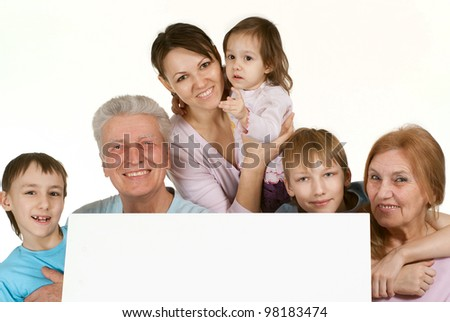 Most bliss Caucasian family happy fool on a light background