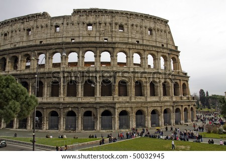 Most famous monument in Rome, the Coliseum is an ancient arena for gladiators