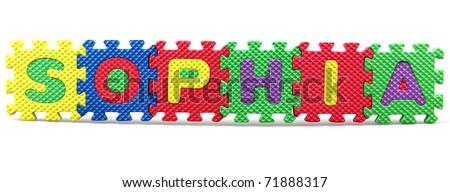 Most Popular Baby Names - Sophia Stock Photo 71888317 ...