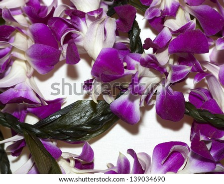 Most popular Hawaiian Lei from purple Lavender flowers
