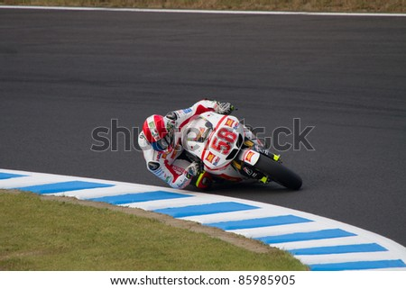 MOTEGI, JAPAN - SEPTEMBER 30: Italian Honda rider Marco Simoncelli during free practice at 2011 MotoGP of Japan on September 30, 2011 in Motegi, Japan.