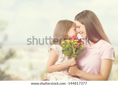 Mother and child. #544817377