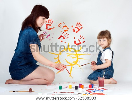 mother and daugher painting #52388503