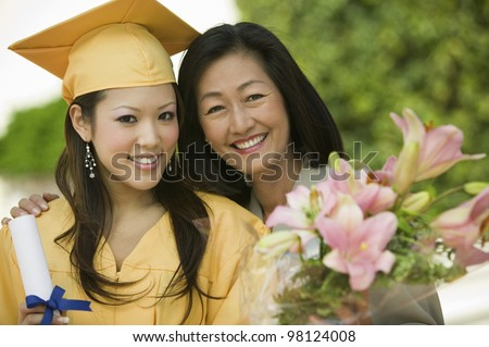Mother and Daughter at Graduation