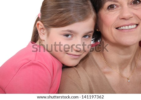 Mother and daughter close together