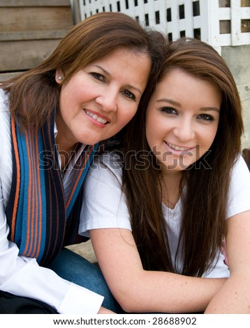 Mother and daughter enjoy their time together