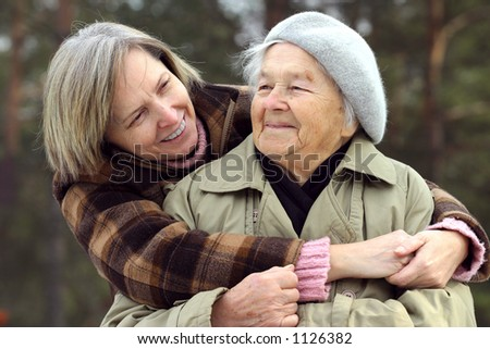 Mother and daughter enjoying time spent together. - stock photo