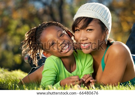 Mother and Daughter having fun spending time together