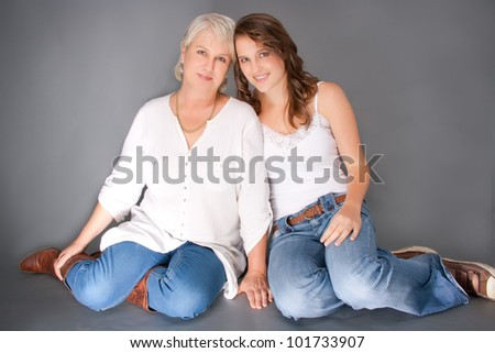 Mother and daughter loving each other