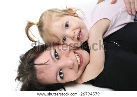 mother and her baby - stock photo