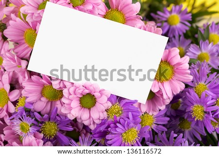 mother day greeting, blank message.