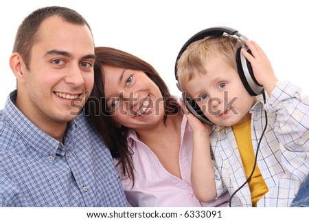 mother father and son listen to music leisure activity stock photo 6333091 shutterstock. Black Bedroom Furniture Sets. Home Design Ideas