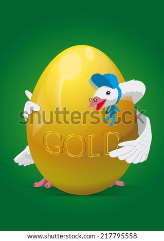 Mother Goose with Golden Egg Illustration/Clip Art : Shutterstock