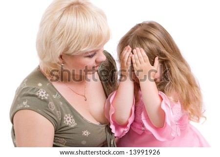 mother have to chide her small daughter for some offence