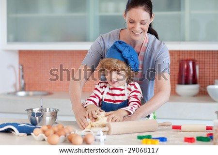 Mother having fun with her child