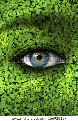 Mother nature concept - Ecology background