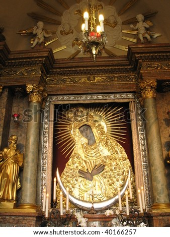 Mother of God of Ostra Brama - a wonderful picture in Vilnius, Lithuania